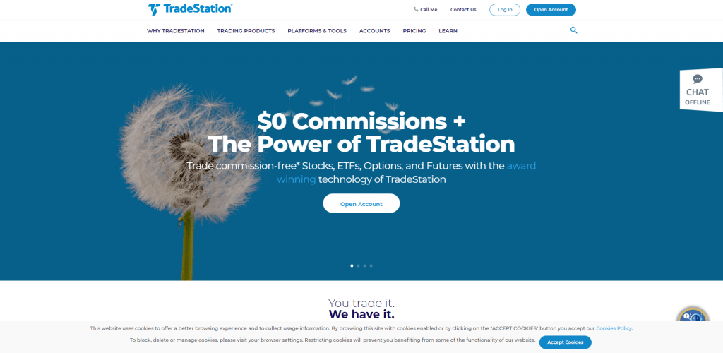 La Homepage de Tradestation