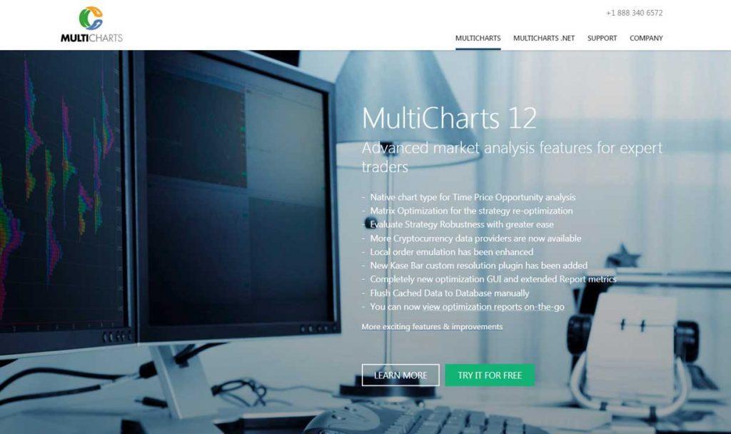 Homepage de Multicharts