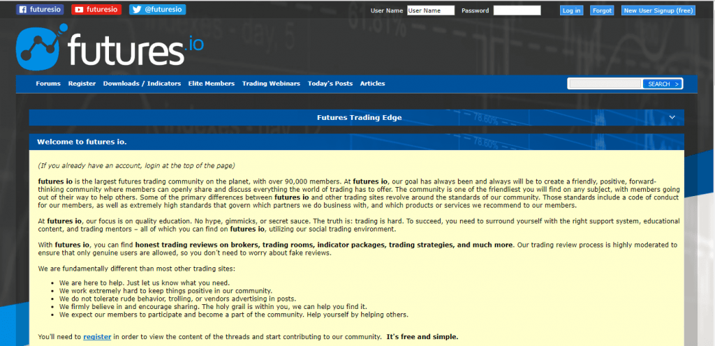 Homepage Futures.IO