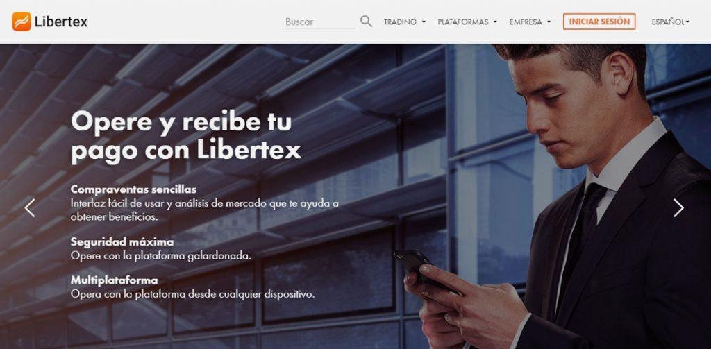 Home del broker online de Forex Libertex