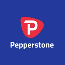 Logo de Pepperstone, un broker online australiano de Forex.
